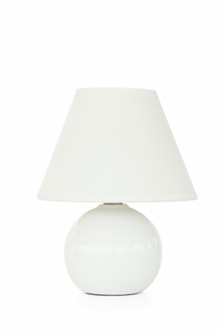 White lamp against a white backgroundの写真素材 [FYI00487859]