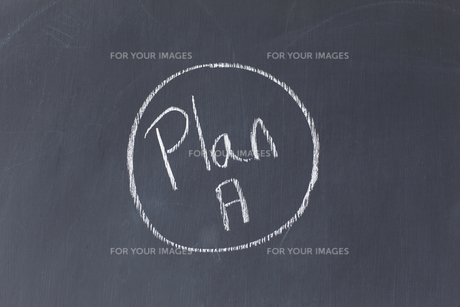 Blackboard with Plan A written on itの素材 [FYI00487861]