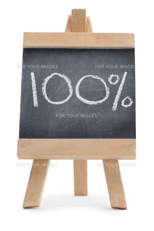 Chalkboard with a percentageの写真素材 [FYI00487863]