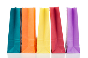 Colored paper bagsの素材 [FYI00487896]