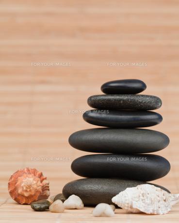 Sea shells and pebblesの素材 [FYI00487921]