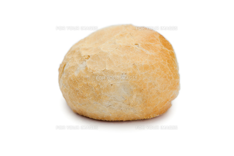 Bread role isolated on a white backgroundの素材 [FYI00487925]
