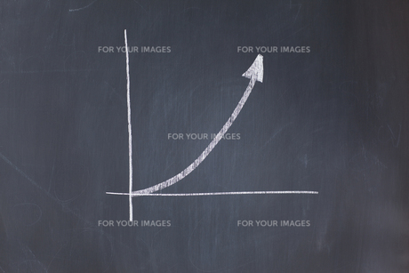 Assending graph drawnの写真素材 [FYI00487940]