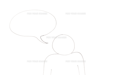 Diagram of a character with a empty bubble for a messageの写真素材 [FYI00487957]
