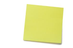 Yellow postitの写真素材 [FYI00487972]