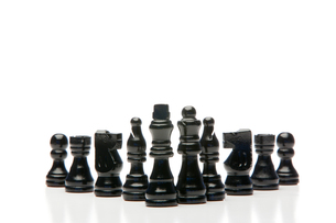 Black chess piecesの写真素材 [FYI00488005]