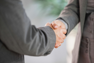 Business people shaking hands close upの写真素材 [FYI00488150]