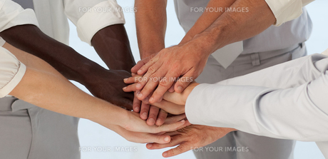 Close up of Business Teams with hands togetherの写真素材 [FYI00488157]