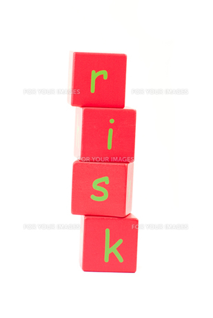 Risk Spelt out in lettersの写真素材 [FYI00488167]