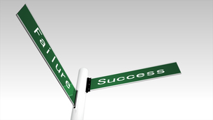 Succcess and failure sign postの素材 [FYI00488177]