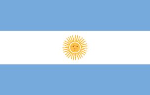 Argentina Flagの写真素材 [FYI00488180]