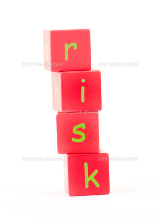 Risk Spelt out in lettersの素材 [FYI00488200]