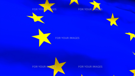 Highly Detailed 3d render of an EU Flagの素材 [FYI00488207]