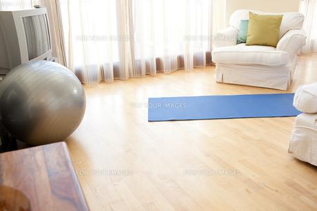 Pilates ball in a livingroomの写真素材 [FYI00488209]