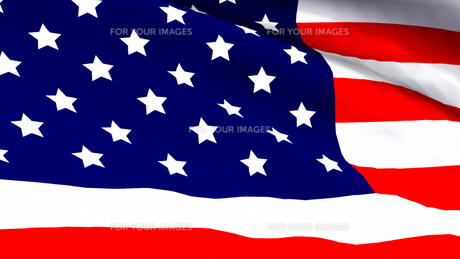 Highly Detailed 3d Render of an American flagの素材 [FYI00488227]
