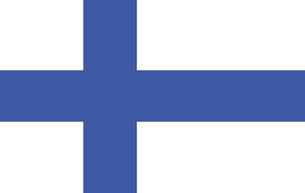 Finnish Flagの写真素材 [FYI00488243]