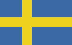 Swedish Flagの写真素材 [FYI00488281]