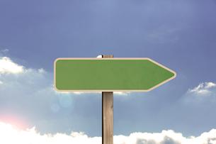 Empty green road signの写真素材 [FYI00488294]