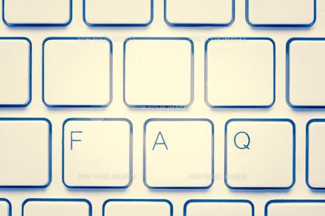 Blank keyboard with FAQの素材 [FYI00488303]