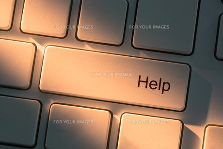 Keyboard with close up on help buttonの素材 [FYI00488304]