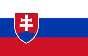Slovakian Flagの写真素材 [FYI00488311]