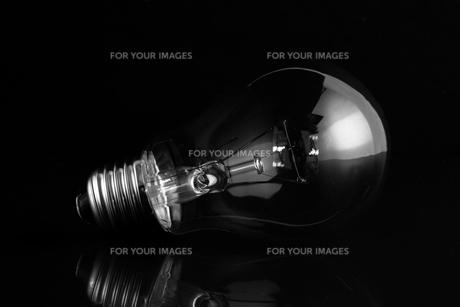 Clear light bulb lying on its sideの素材 [FYI00488314]