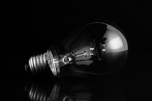Clear light bulb lying on its sideの写真素材 [FYI00488314]