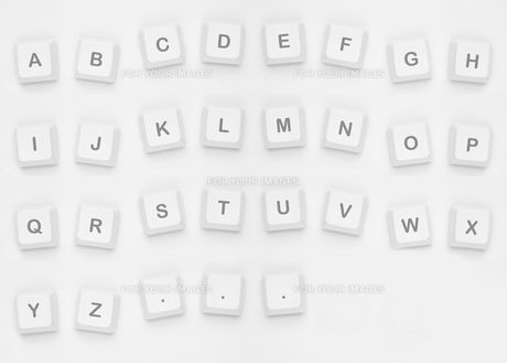 Letters spelling out alphabetの写真素材 [FYI00488317]