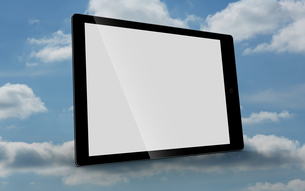 Tablet computer with blank screenの写真素材 [FYI00488335]