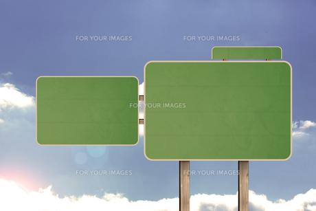 Blank road signの素材 [FYI00488337]