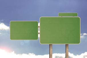 Blank road signの写真素材 [FYI00488337]