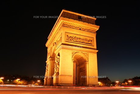Arc De Triumphe in Franceの写真素材 [FYI00488411]