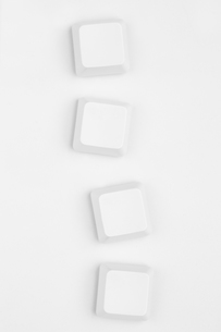 Four neutral white key of keyboardの写真素材 [FYI00488420]
