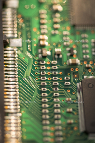 Close up of PCBの写真素材 [FYI00488430]