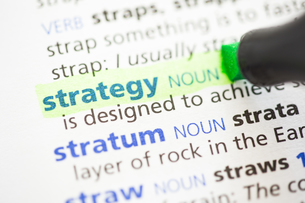 Strategy definition highlightedの写真素材 [FYI00488440]