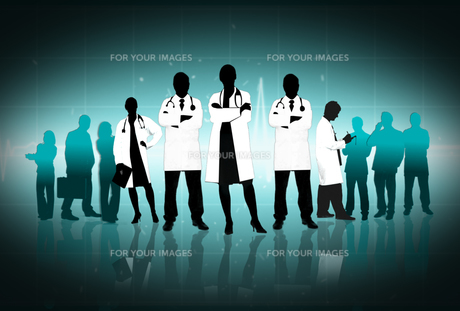 Illustration of doctors standing arms crossedの素材 [FYI00488460]