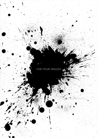Black ink splash designの素材 [FYI00488462]