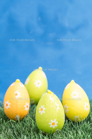 Four easter eggsの写真素材 [FYI00488495]
