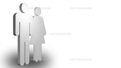3d man and womanの写真素材 [FYI00488532]