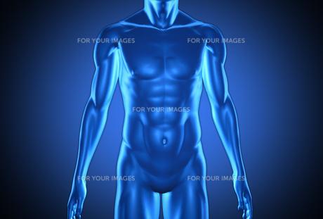 Digital blue humanの素材 [FYI00488543]