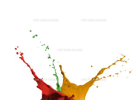 Artistic paint splashingの素材 [FYI00488573]
