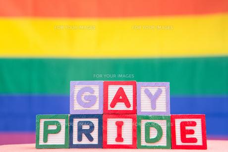 Blocks spelling gay prideの素材 [FYI00488589]