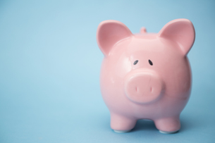 Piggy bank with copy spaceの写真素材 [FYI00488593]