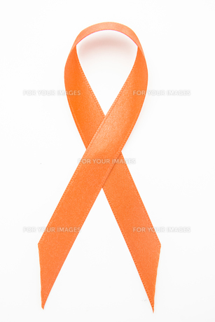 Orange awareness ribbonの素材 [FYI00488601]