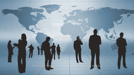 Silhouettes of business people at workの写真素材 [FYI00488604]
