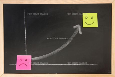 Blackboard with graphの写真素材 [FYI00488656]