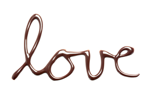 Love spelled out in chocolateの素材 [FYI00488664]