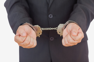 Handcuffed businessmanの写真素材 [FYI00488694]