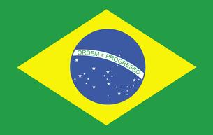 Brazilian Flagの写真素材 [FYI00488698]