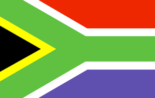 south africa Flagの写真素材 [FYI00488725]